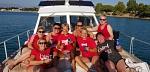 Wunderbar, die RWE-Mädels Icke,Traudi, Katrin, Heidi, Kati, Anke, Kirsten und Tine wie vom Laufsteg auf dem Mittelmeer!