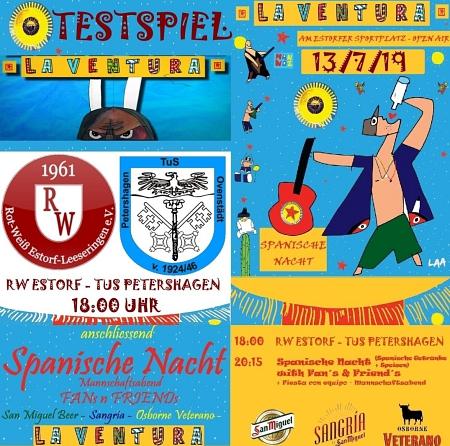 Spanische Nacht und 1. Herren Freundschaftsspiel gegen den TuS Petershagen