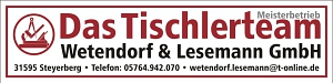 Wetendorf und Lesemann Tischlerteam